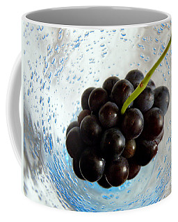Coffee Mug featuring the photograph Grape Cluster In Biot Glass by Lainie Wrightson