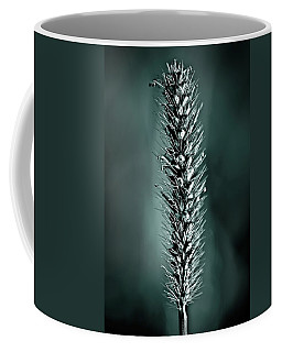 Grass Seedhead In Deep Cyan Coffee Mug