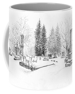 Graveyard In The Snow Coffee Mug