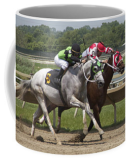 Coffee Mug featuring the photograph Gray Vs Bay by Alice Gipson
