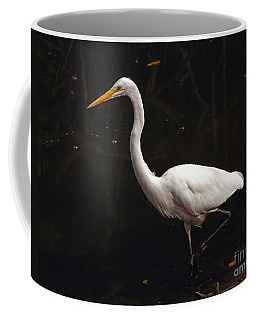 Coffee Mug featuring the photograph Great Egret Hunting by Art Whitton