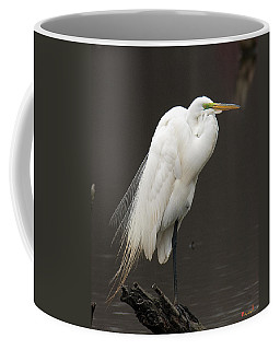 Great Egret Resting Dmsb0036 Coffee Mug