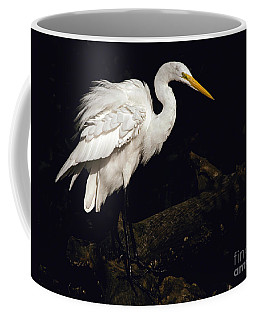 Great Egret Ruffles His Feathers Coffee Mug
