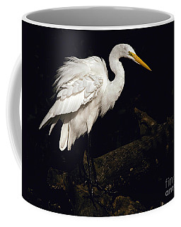 Great Egret Ruffles His Feathers Coffee Mug by Art Whitton