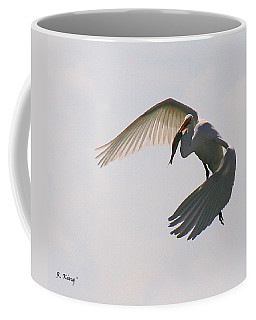 Great Egret Successful Fishing Coffee Mug