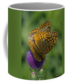 Great Spangled Fritillaries On Thistle Din108 Coffee Mug