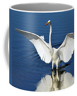 Great White Egret Spreading Its Wings Coffee Mug