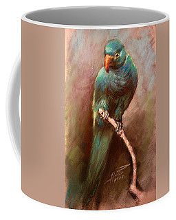 Green Parrot Coffee Mug