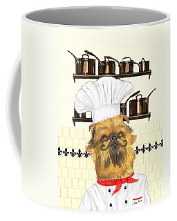 Coffee Mug featuring the mixed media Griff by Stephanie Grant