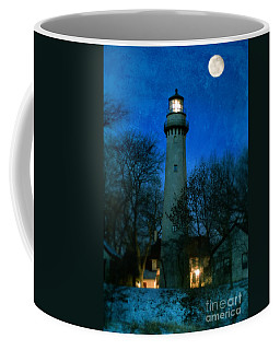 Grosse Point Lighthouse Before Dawn Coffee Mug