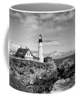 Guarding Ship Safety Bw Coffee Mug