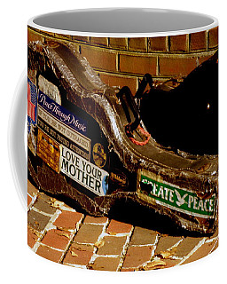Coffee Mug featuring the photograph Guitar Case Messages by Lainie Wrightson