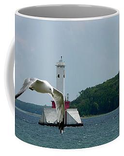 Gull And Lighthouse Coffee Mug