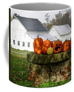 Coffee Mug featuring the photograph Halloween Scene by Lainie Wrightson