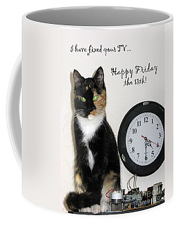 Coffee Mug featuring the photograph Happy Friday The 13th by Ausra Huntington nee Paulauskaite
