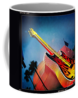 Coffee Mug featuring the photograph Hard Rock Guitar by Nina Prommer