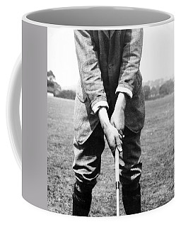 Coffee Mug featuring the photograph Harry Vardon Displays His Overlap Grip by International  Images