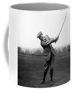 Coffee Mug featuring the photograph Harry Vardon Swinging His Golf Club by International  Images