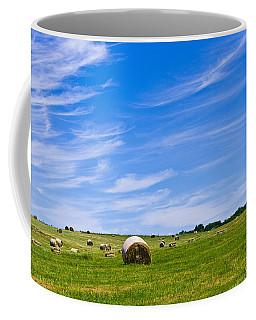 Hay Bales Under Brilliant Blue Sky Coffee Mug