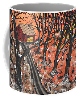 Coffee Mug featuring the painting Hazy Shade Of Winter by Jeffrey Koss