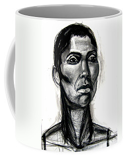 Coffee Mug featuring the drawing Head Study by Gabrielle Wilson-Sealy