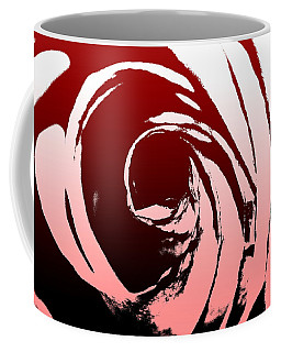 Coffee Mug featuring the photograph Heart Of The Rose by Lauren Radke