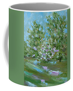 Coffee Mug featuring the painting Hilltop by Judith Rhue