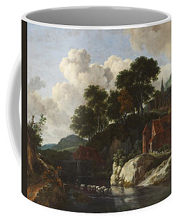 Hilly Landscape With A Watermill Coffee Mug