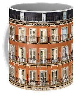 Historic Facade At Plaza Mayor In Madrid Coffee Mug