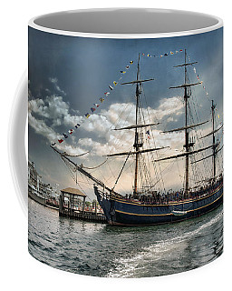 Coffee Mug featuring the photograph Hms Bounty Newport by Robin-Lee Vieira