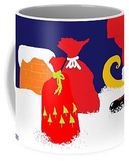 Coffee Mug featuring the digital art Ho Ho Ho by Barbara Moignard