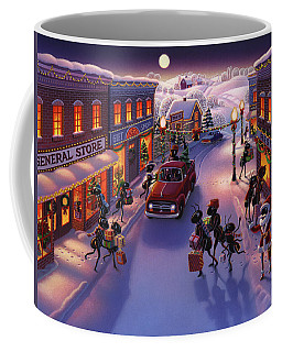 Holiday Shopper Ants Coffee Mug