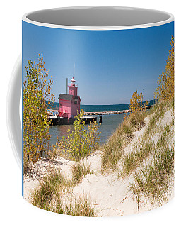 Holland Mi Lighthouse Coffee Mug by Larry Carr