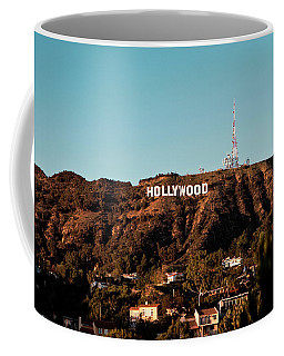 Hollywood Sign At Sunset Coffee Mug