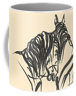 Coffee Mug featuring the painting Horse - Together 9 by Go Van Kampen