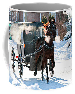 Horse And Buggy In The Snow Coffee Mug