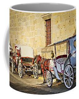 Horse Drawn Carriages In Guadalajara Coffee Mug