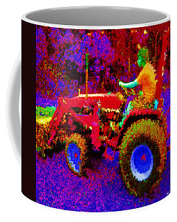 Coffee Mug featuring the photograph Hot Afternoon On A John Deere Tractor by George Pedro