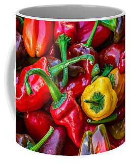 Coffee Mug featuring the photograph Hot Pepper Time by Ken Stanback
