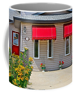 House With Red Shades. Coffee Mug