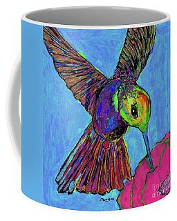 Hummingbird On Blue Coffee Mug