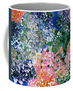 Coffee Mug featuring the painting Hydrangeas I by Alys Caviness-Gober