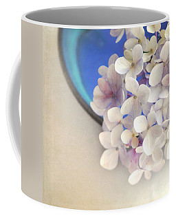 Hydrangeas In Blue Bowl Coffee Mug by Lyn Randle