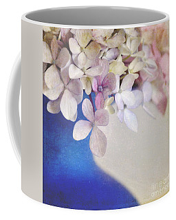 Hydrangeas In Deep Blue Vase Coffee Mug by Lyn Randle