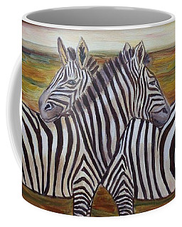 Coffee Mug featuring the painting I Think Its This Way by Julie Brugh Riffey