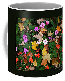 Impatiens And Autumn Leaves Coffee Mug