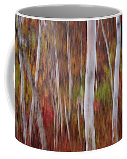 Abstract Impressions Vermont Birch Forest  Coffee Mug