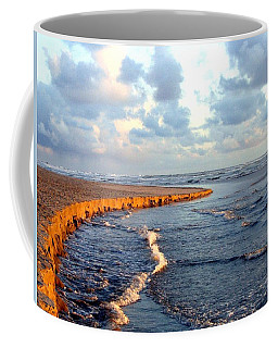 Coffee Mug featuring the photograph Incoming Tide At Sundown by Will Borden