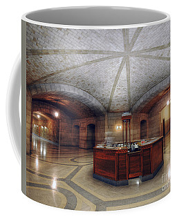 Coffee Mug featuring the photograph Info Desk by Art Whitton