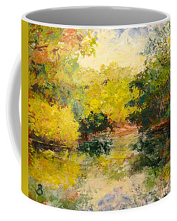 Coffee Mug featuring the painting Inlet by Joe Bergholm